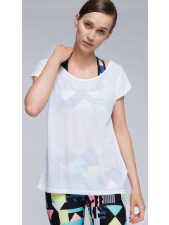 Koszulka treningowa damska TSDF007 - biały