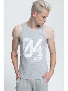 Koszulka bez rękawów męska TSM008 - chłodny jasny szar