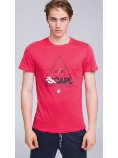 T-shirt męski TSM222 - koral