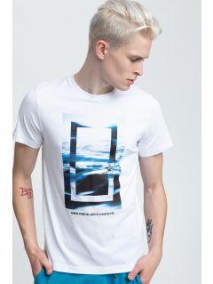 T-shirt męski TSM295 - biały