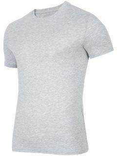 T-shirt męski TSM300 - szary melanż