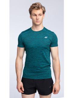 Koszulka treningowa męska TSMF009 - morska zieleń melanż