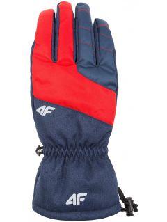 Rękawice narciarskie męskie REM351 - granatowy melanż