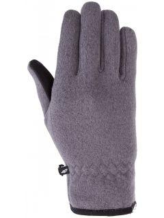 Rękawiczki sportowe uniseks REU203Z - ciemny szary melanż