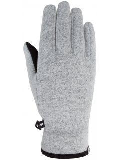 Rękawice sportowe uniseks REU203Z - jasny szary melanż