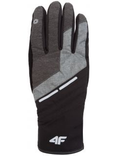 Rękawice narciarskie męskie REM253Z - jasny szary melanż