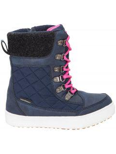 Buty zimowe dla małych dziewczynek JOBDW301z - granatowy