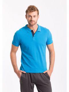 Koszulka polo męska TSM051z - niebieski jasny