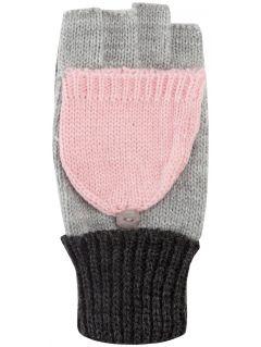 Rękawiсzki dla małych dziewczynek JREDD101z - szary jasny