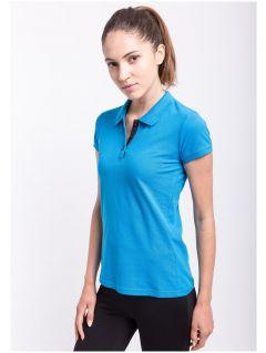 Koszulka polo damska TSD051AZ - NIEBIESKI JASNY