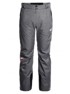 Spodnie narciarskie męskie Polska Pyeongchang 2018 SPMN900R - szary melanż