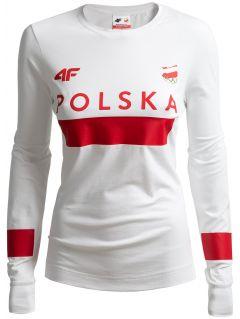 Longsleeve damski Polska Pyeongchang 2018 TSDL210 - BIAŁY