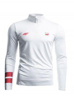 Longsleeve funkcyjny męski Polska Pyeongchang 2018 TSMLF900 - biały