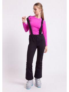 Spodnie narciarskie damskie SPDN003Z - czarny