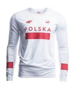 Longsleeve męski Polska Pyeongchang 2018 TSML210 - BIAŁY