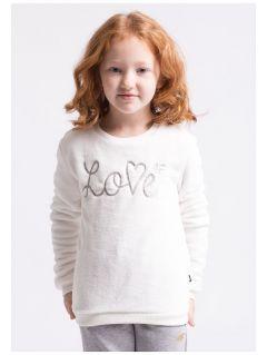 Bluza dla małych dziewczynek JBLD103z - kremowa biel