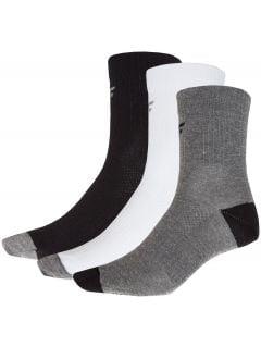 Skarpetki męskie (3 pary) SOM302 - szary + czerń + biały