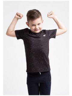 Koszulka sportowa dla małych chłopców JTSM304z - czarny