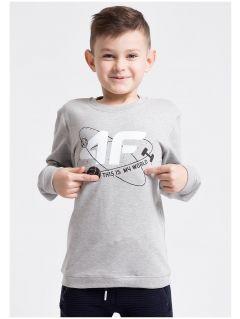 Longsleeve sportowy dla małych chłopców JTSML303z - szary melanż