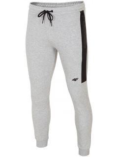Spodnie dresowe męskie SPMD224 - szary melanż