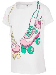 T-shirt dla małych dziewczynek JTSD104 - BIAŁY