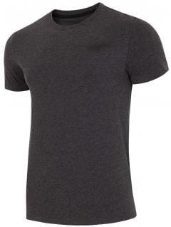 T-shirt męski  TSM002 - ciemny szary melanż