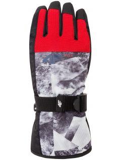 Rękawice narciarskie dla dużych chłopców JREM403z - granatowy