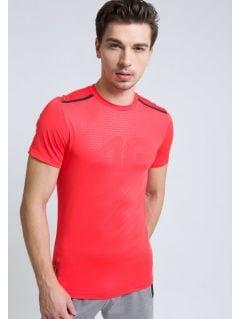 Koszulka treningowa męska TSMF208 - czerwony neon