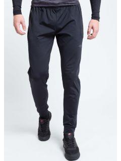 Spodnie treningowe męskie SPMTR205 - głęboka czerń