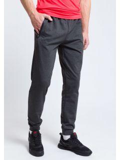 Spodnie treningowe męskie SPMTR205 - ciemny szary melanż