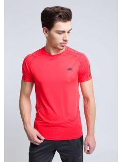 Koszulka treningowa męska TSMF215 - czerwony neon