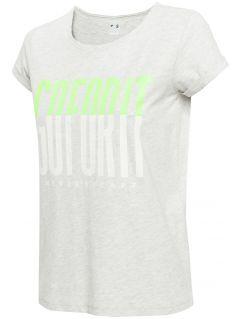 T-shirt damski TSD007 - chłodny jasny szary