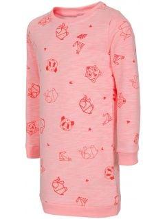 Sukienka dla małych dziewczynek JSUDD103 - jasny róż melanż