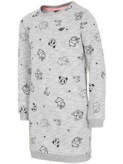 Sukienka dla dużych dziewcząt JSUDD202 - chłodny jasny szary