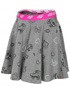 Spódniczka dresowa dla dużych dziewcząt JSPUD202 - szary melanż