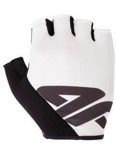 Rękawiczki rowerowe uniseks RRU200 - biały