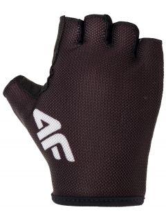Rękawiczki rowerowe uniseks RRU300 - głęboka czerń