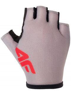 Rękawiczki rowerowe uniseks RRU300 - szary