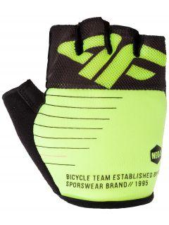Rękawiczki rowerowe uniseks RRU205 - limonka neon