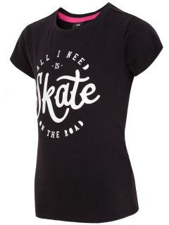 T-shirt dla małych dziewczynek JTSD106A - głęboka czerń
