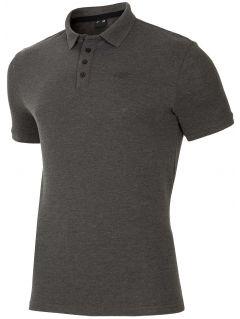Koszulka polo męska TSM024 - chłodny jasny szar