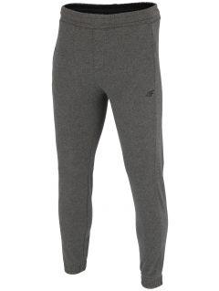 Spodnie dresowe męskie SPMD001 - ciemny szary melanż