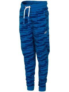Spodnie dresowe dla małych chłopców JSPMD117 - niebieski