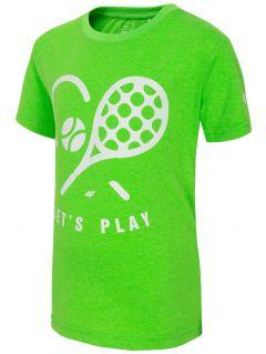 T-shirt dla małych chłopców JTSM120 - zielony neon