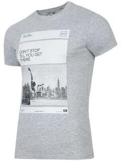 T-shirt męski TSM027 - chłodny jasny szar