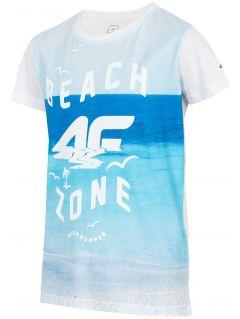 T-shirt dla małych chłopców JTSM127 - biały