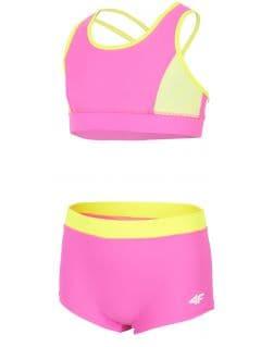 Kostium kąpielowy dla dużych dziewcząt JKOS209 - różowy