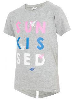 T-shirt dla dużych dziewcząt JTSD216A - multikolor melanż