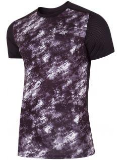 Koszulka treningowa męska TSMF223 - głęboka czerń allove