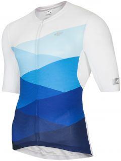 Koszulka rowerowa męska RKM152 - niebieski allover